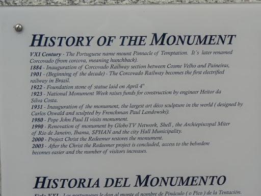 Christ the Redeemer History -