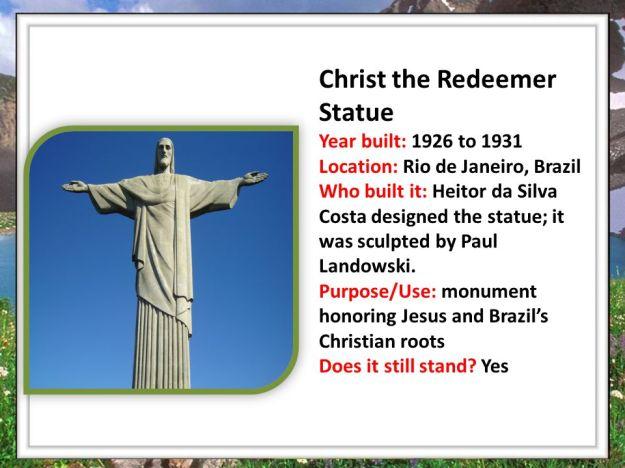 Christ the Redeemer Quiiz