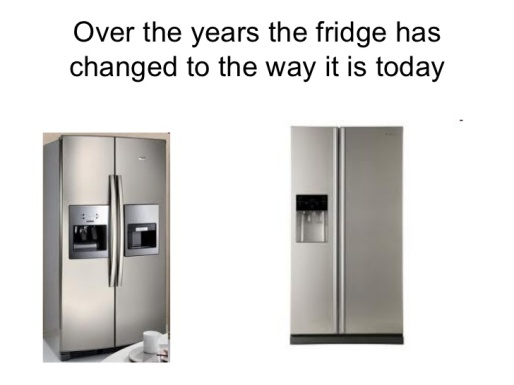 Fridge change over years