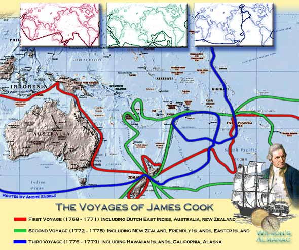 James Cook Routes