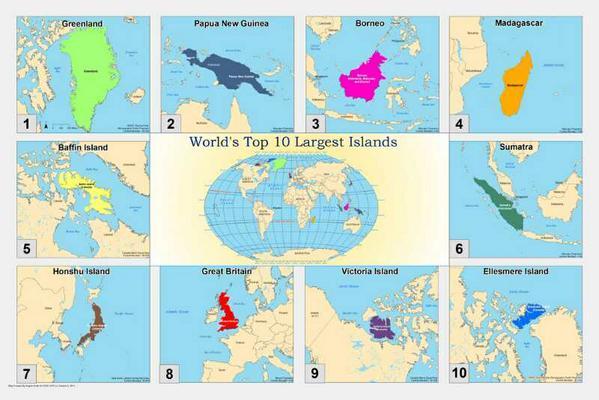 Major's Top 10 Largest Islands