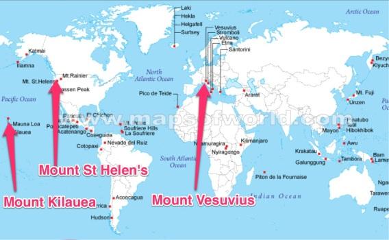 Map of Volcanoes