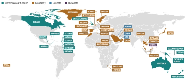 Monarchies around the World