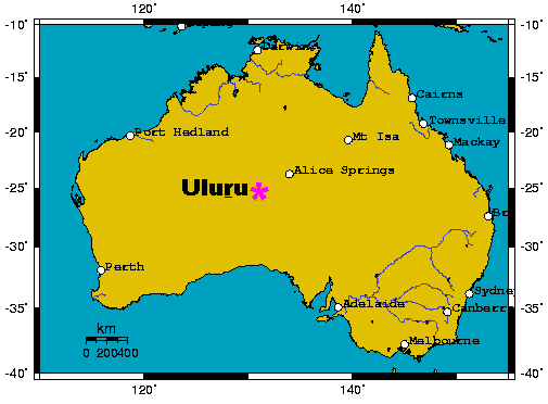 Uluru Ayers Map