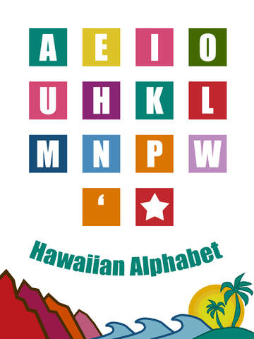 hawaiian alphabet 12 letters