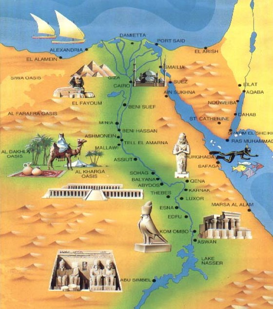 Nile River History Map