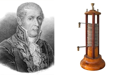 Alessandro Volta and Battery
