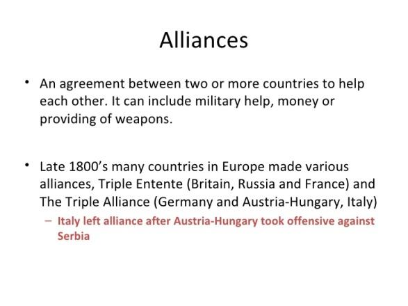 Alliances