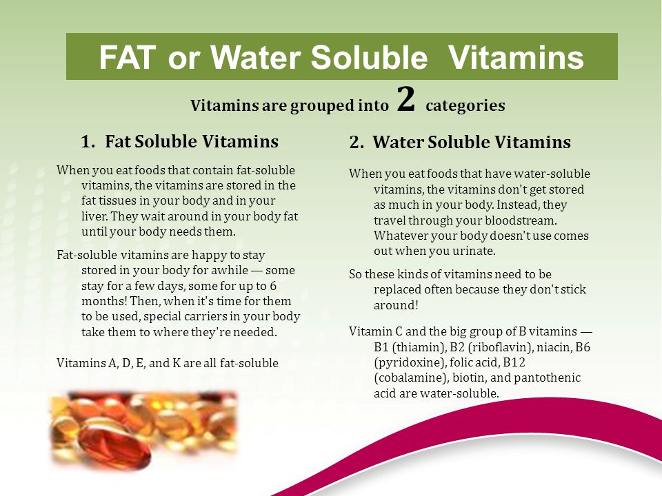 fat and watersoluble vitamins essay Sci/220 week 3 fat- and water-soluble vitamins presentation do you need help with your school  original essay writing service.