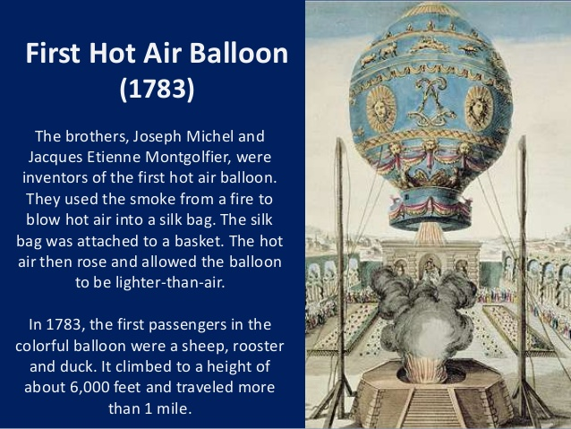 Image result for first hot air balloon in france