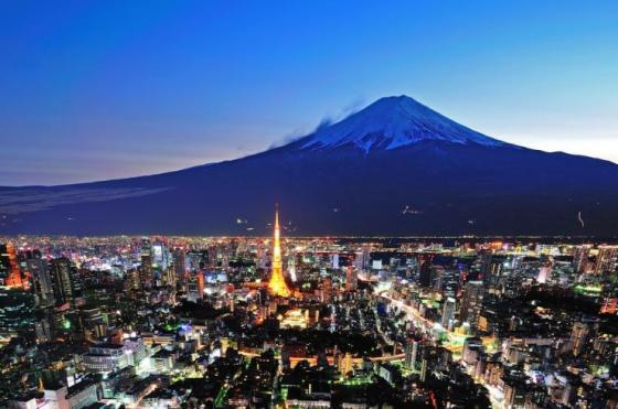 Tokyo and Mount Fuji, Japan