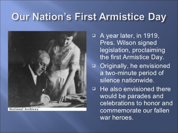 2 - Our Nation's First Armistice Day