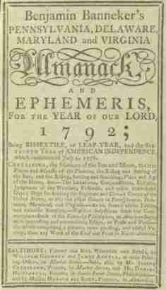 Benjamin Banneker Almanac 1792