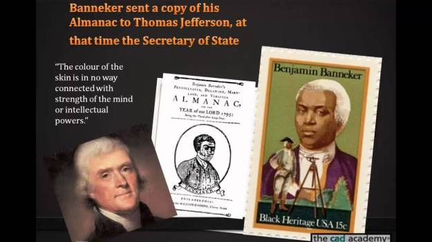 Benjamin Banneker sent Almanac to Thomas Jefferson