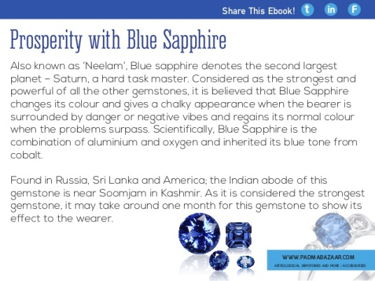 Blue Sapphire Facts