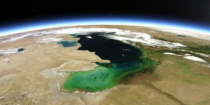 Caspian Lake view from space