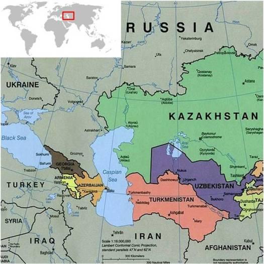 Caspian Sea Map World