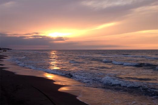 Caspian Sea Sunset