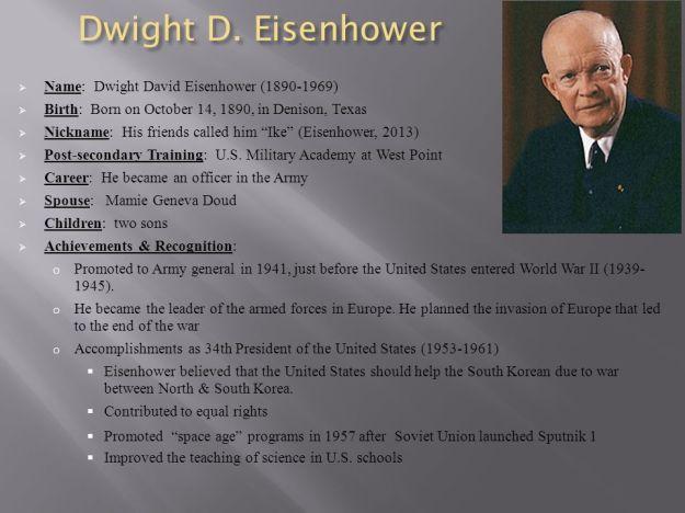 Dwight Eisenhower Facts