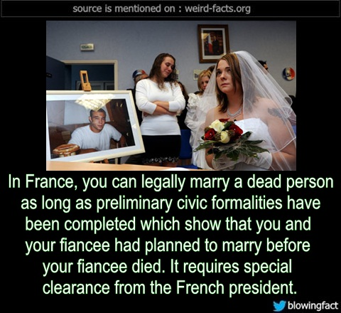 Legally Marry a Dead Person in France