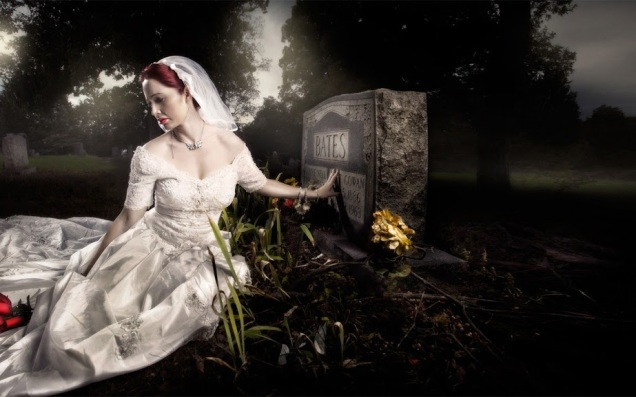Marry in cemetery