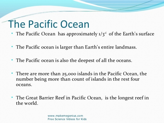 Pacific Ocean Facts 1