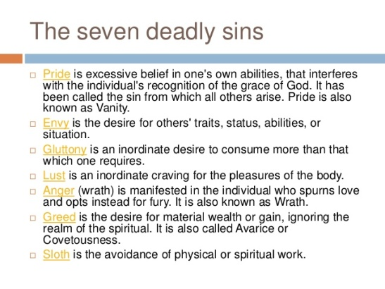 Seven Deadly Sins and their Meanings