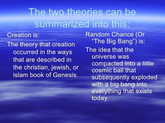 Universe - Creation and Random Chance