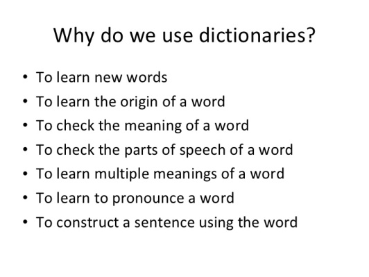 3 - Why do we use dictionaries