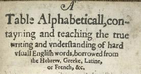 A Table Alphabeticall