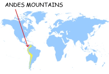Andes Mountains Location On World Map | europeancytokinesociety