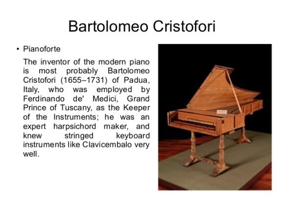 Bartolomeo Cristofori 1655-1731
