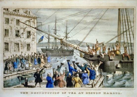 Boston Tea Party Painting