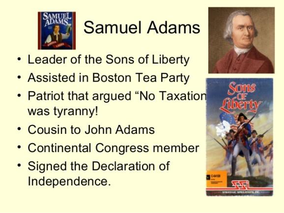 Boston Tea Party - Samuel Adams