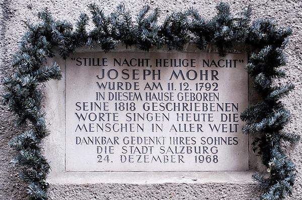 Joseph Mohr Plaque