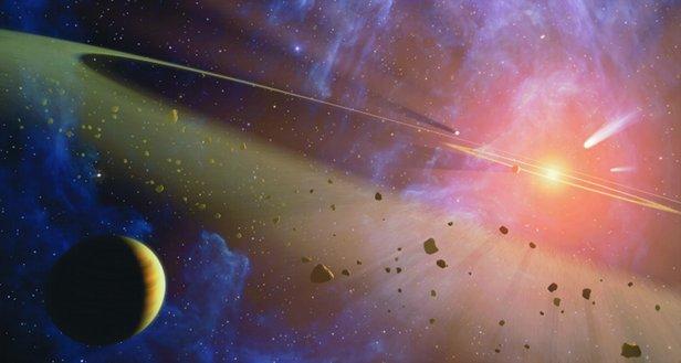 Kuiper Belt in space