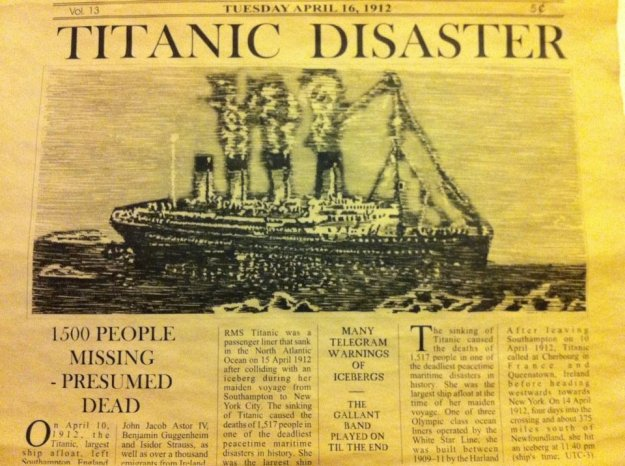 Old Newspaper Titanic
