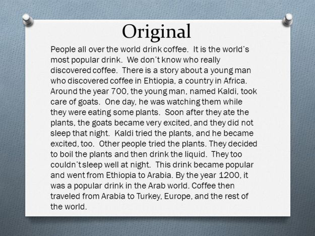 Original History of Coffee