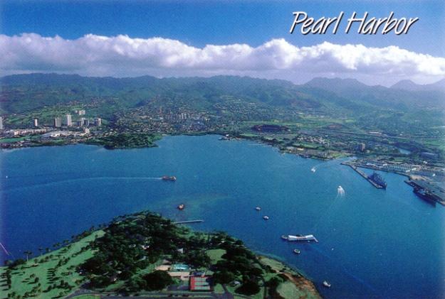 Pearl Harbor Aerial View