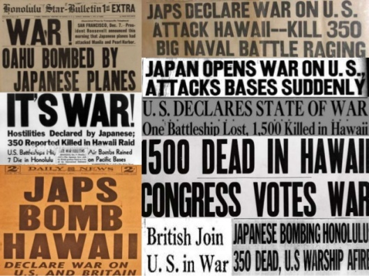 Pearl Harbor Attack Newspapers