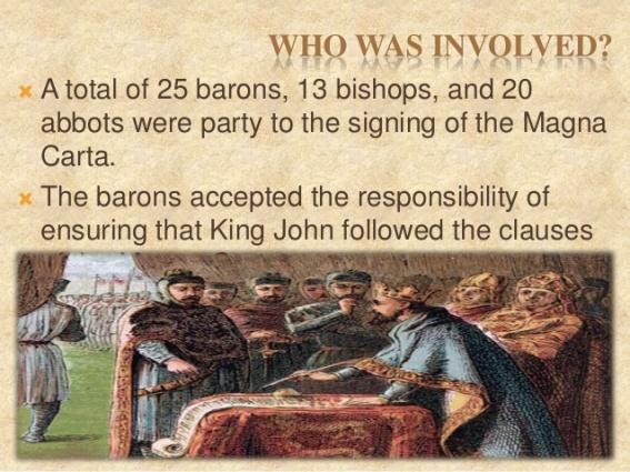 5 - Magna Carta - Who was involved