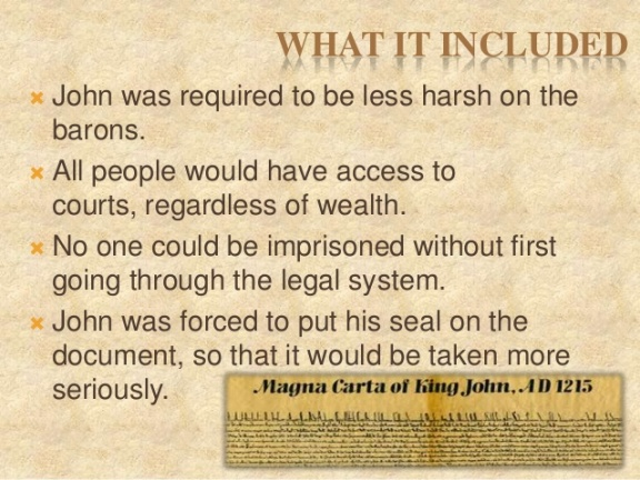 6 - Magna Carta - What it included