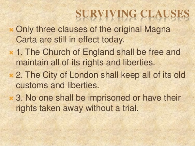 7 - Magna Carta - Surviving Clauses