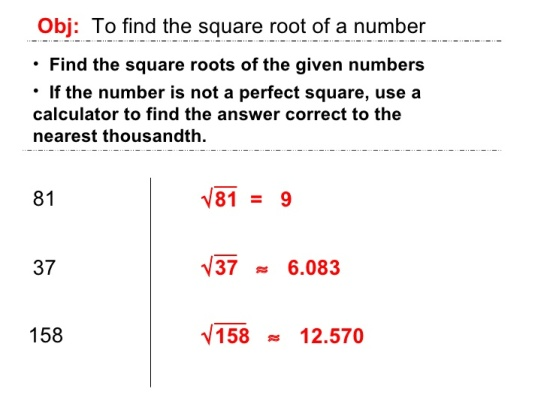 Find the square root of a number