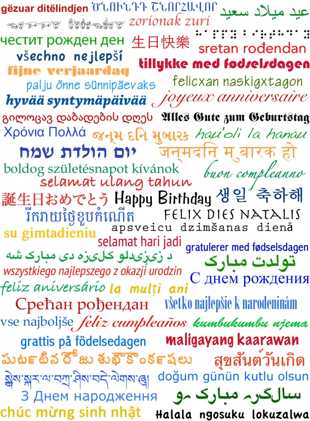 Happy Birthday in All Languages