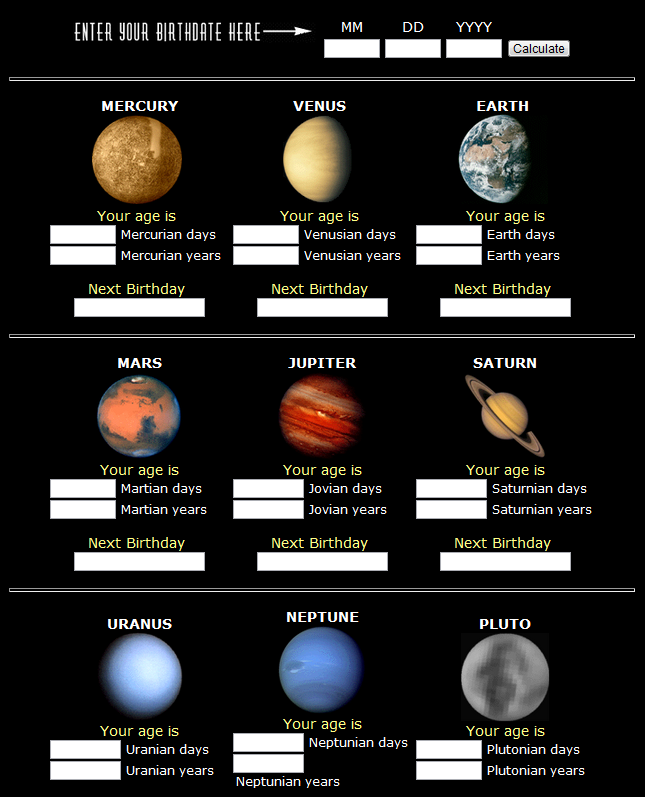 solar system planetary year - photo #6