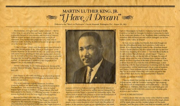 Martin Luther King Jr - I Have A Dream in newspapers