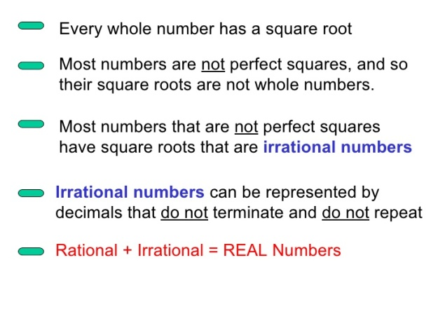 Square Root Facts
