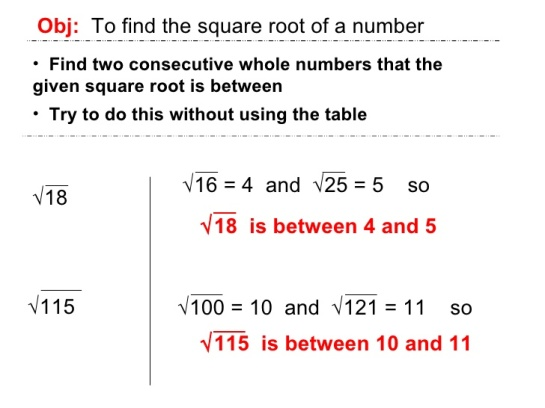 Square Root - find a number