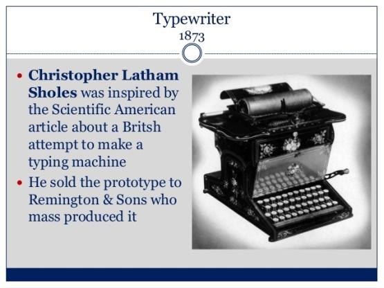 Typewriter 1873